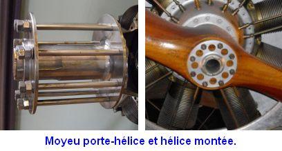 Helice 4 pales en bois Moyeux